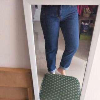 Celana jeans boyfriend middle blue size 30 BARU
