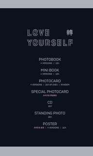 [PRICE CONFIRMED NON-PROFIT PO] BTS LOVE YOURSELF: TEAR PRE-ORDER