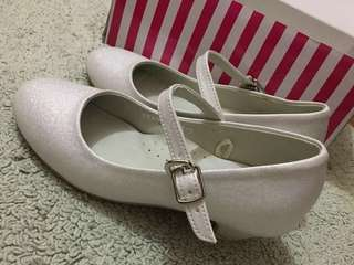 SUGAR KIDS white glittery shoes for kids