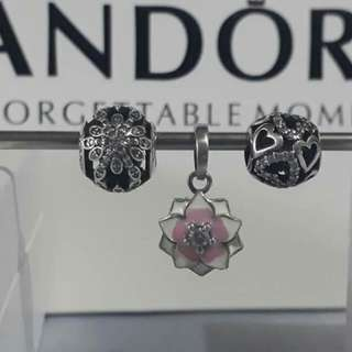 Pandora set of 3 charms