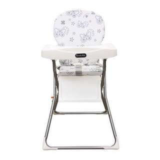 Meja makan bayi ( lucky baby duluxe high chair - silver butterfly )
