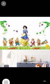 💟Cute Cartoon Snow White Wall Sticker Kindergarten Classroom Children Room Early Learning Center Background Decorative Sticker