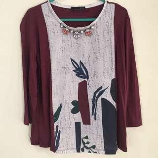 ZARA semi blouse