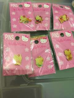 中古 sanrio hello kitty 扣針 pin