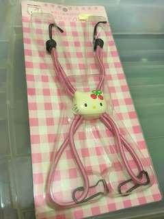 Hello kitty 中古 單車籃 扣