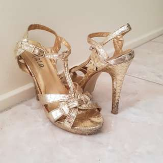 Scaled Gold heels