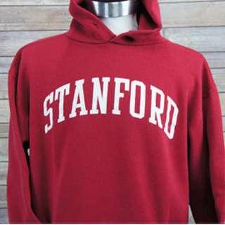 standford vintage hoodie 史丹佛 哈佛 古著 連帽 上衣 大學 學院風 老品