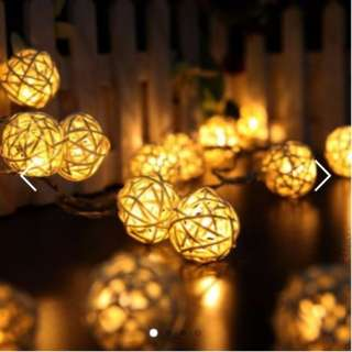 Rattan Ball Fairy Light (Battery Operated)