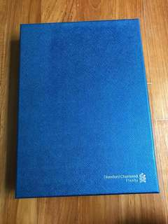 Standard chartered priority banking (notebook plus leather folder set)