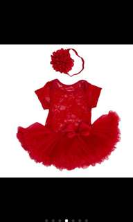 Infant Party Dress (Red)