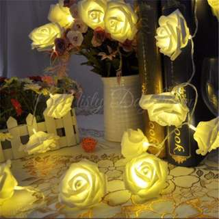 Rose Fairy Lights (Battery Operated)