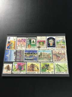 Singapore Stamp- 15 Used Stamps