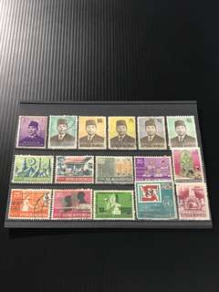 Indonesia Stamp- 16 Used Stamps