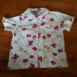 Brand New Boy's Floral Shirt Top