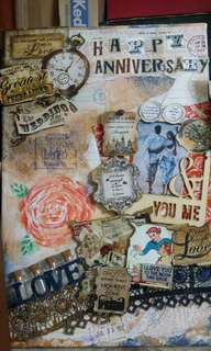 Mixed Media Art Anniversary on Canvass