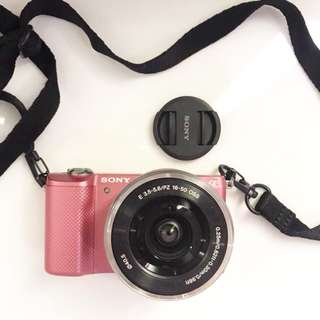 Authentic preloved like new sony A5000 camera