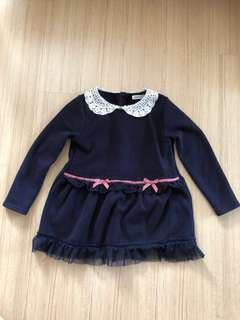 Navy Blue Girl's Dress