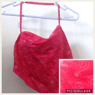 Redish pink bikini top