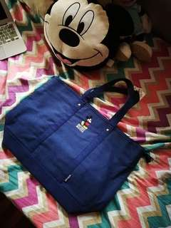 BNWT New Mickey Mouse Blue Canvas Tote Bag