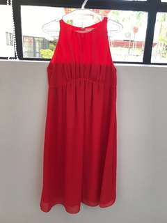 H&M Mama: Maternity Red Halter Dress
