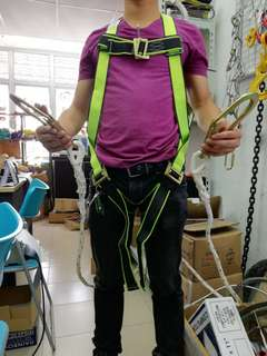 Fall arrest safety harness