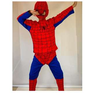 Last two  ! New Kids Marvel Spiderman Halloween Costume Cosplay Party Mask 全新蜘蛛俠造型服套裝