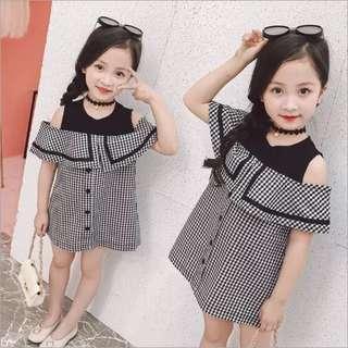 👧🏻(PO) Peek-A-Boo Shoulder Dress for Baby Girl Toddler