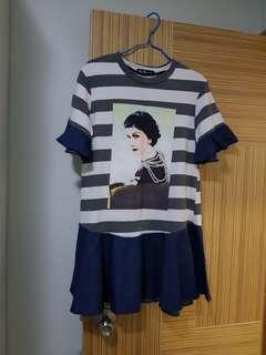 韩國新款横間靚上衫