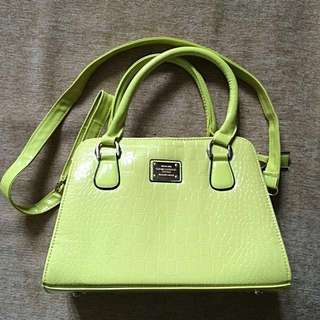 [REPRICE] Premium Yellow Leather Handbag