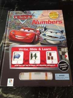 McQueen numbers write & slide book