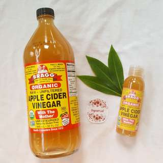 [SHARE in bottle 30ml/60ml/100ml] BRAGG Apple Cider Vinegar MURNI (Cuka Apel)