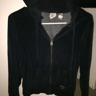 Black Sequinned Hoodie Size Small
