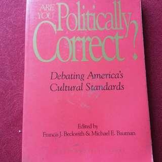 Non Fiction Book : Title 🚩 Are You Politically Correct?