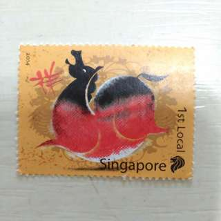 Horse year 2014 Singapore stamp Free postage