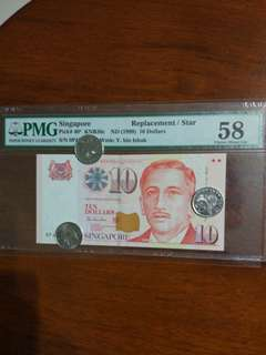 0PJ $10 Replacement Pmg 58 Choice Aunc