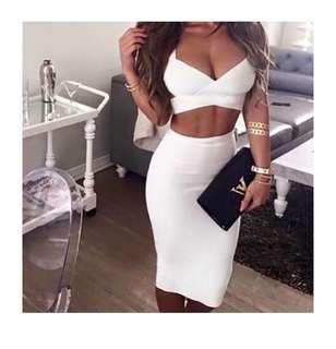 Lady Luxe Boutique 'Madison' bandage set white