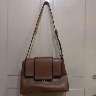 Zara basic brown bag bag collection