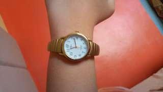 Timex mini gold watch CR1216