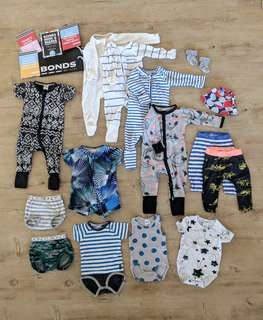 BONDS Baby Boys Bundle Size 00 (3-6 Months)