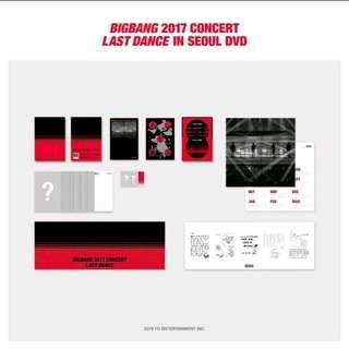 BIG BANG - 2017 CONCERT LAST DANCE IN SEOUL DVD