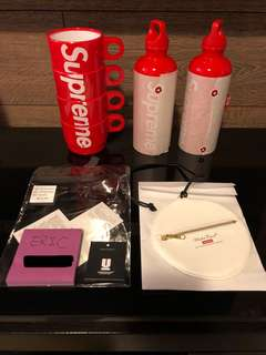 Supreme stacking cups , sigg bottle , undercover medallion pouch
