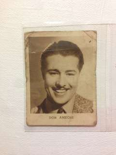 Allen's Irish Moss Jubes Trading Card No. 7 1938 Don Ameche