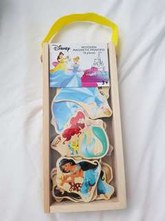 Disney princess wooden magnet