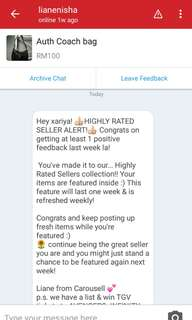 Highly rated Seller 😘