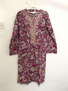 Baju Kurung cotton quality siap manik