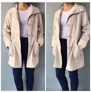 Trench Off White Coat