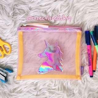 Unicorn Mesh Pencil Case