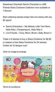7 -Eleven line Friend X Sanrio stamps