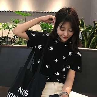 PO Birds Print T-Shirt