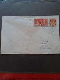 1938年邮封 2张